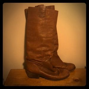 Marc Jacobs Camel Knee High Leather Boots